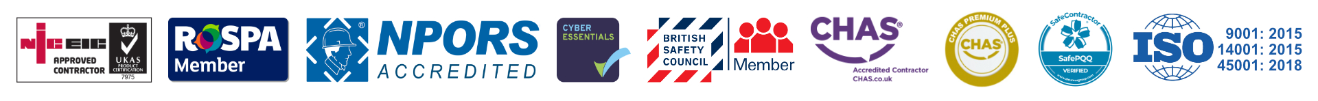 Plant and Safety Limited Accreditations