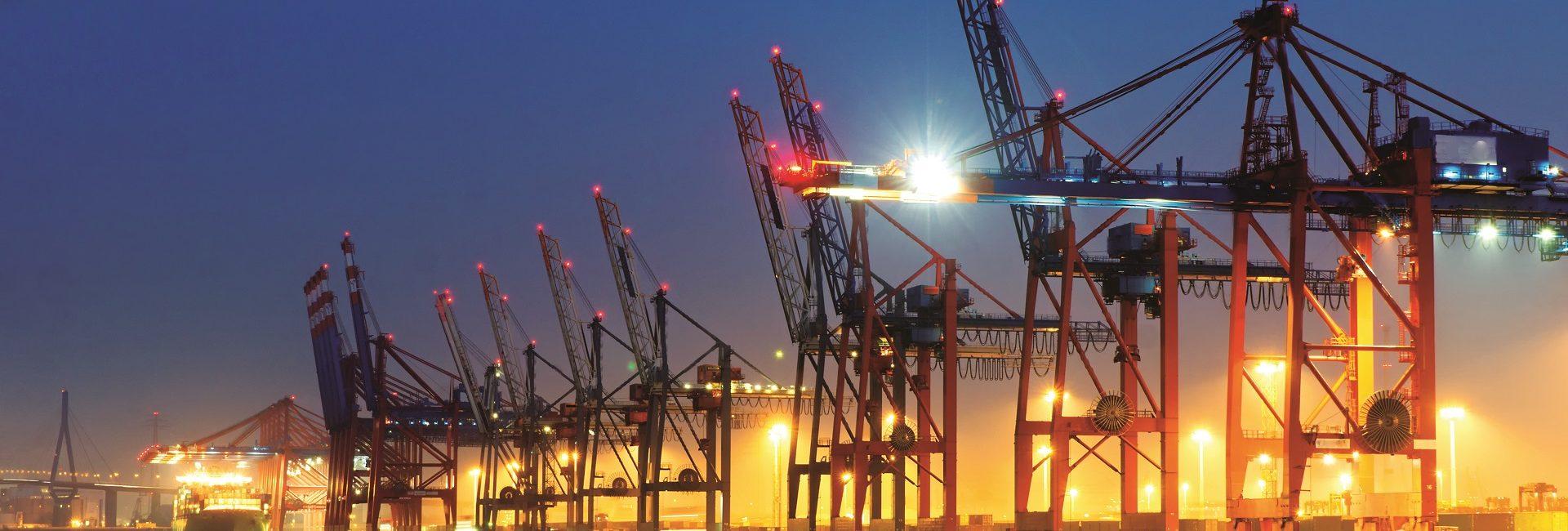 Dockyard Cranes 1920 by 1278