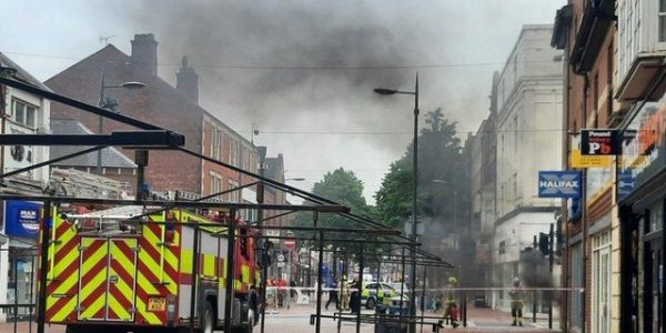 Electrical Fire saw flames spew out of manhole like dragon fire in Worksop
